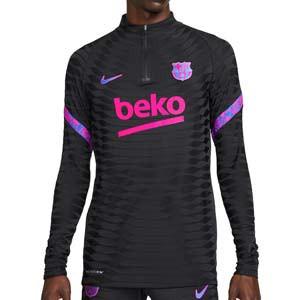Sudadera Nike Barcelona entrenamiento UCL Dri-Fit ADV Elite - Sudadera de entrenamiento Nike del FC Barcelona Champions League 2021 2022 - negra