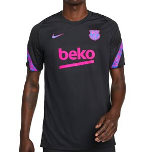 Camiseta Nike Barcelona entrenamiento UCL Dri-Fit Strike - Camiseta de entrenamiento Nike del FC Barcelona de Champions League 2021 2022 - negra