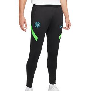 Pantalón Nike Inter entrenamiento Dri-Fit Strike UCL - Pantalón largo de entrenamiento Nike del Inter de la Champions League 2021 2022 - negro