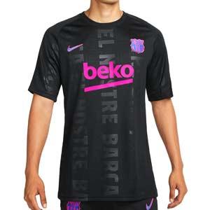 Camiseta Nike Barcelona pre-match UCL - Camiseta pre partido del FC Barcelona para la Champions League 2021 2022 - negra