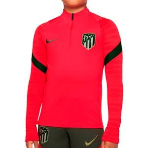 Sudadera Nike Atlético niño entrenamiento Dri-Fit Strike UCL - Sudadera de entrenamiento infantil del Atlético de Madrid de la Champions League 2021 2022 - roja