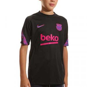 Camiseta Nike Barcelona entrenamiento niño Dri-Fit Strike - Camiseta entrenamiento infantil Nike del Barcelona 2021 2022 - negra
