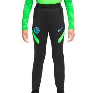 Pantalón Nike Inter entreno niño Dri-Fit Strike UCL - Pantalón largo infantil entrenamiento Champions League Nike Inter Milan 2021 2022 - negro