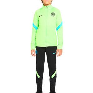 Chándal Nike Inter niño Dri-Fit Strike UCL - Chándal infantil Nike del Inter de la Champions League 2021 2022 - verde, negro