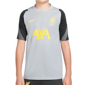 Camiseta Nike Liverpool entrenamiento niño UCL Strike - Camiseta de entrenamiento infantil Nike del Liverpool FC de Champions League - gris