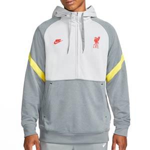 Sudadera Nike Liverpool Travel Fleece Hoodie UCL - Sudadera con capucha Nike del Liverpool de la Champions League - gris