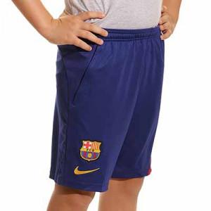 Short Nike Barcelona entrenamiento niño Academy Pro - Pantalón corto infantil entrenamiento Nike del Barcelona - azul