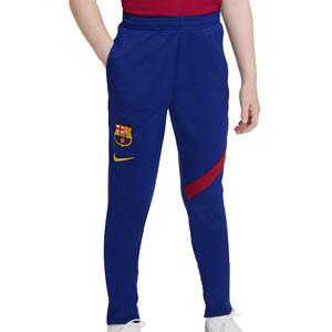 Pantalón Nike Barcelona niño entrenamiento Academy Pro - Pantalón largo infantil entrenamiento Nike del Barcelona - azul