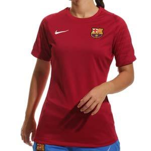 Camiseta Nike Barcelona entrenamiento mujer Strike - Camiseta de entrenamiento para mujer Nike del FC Barcelona - granate - frontal
