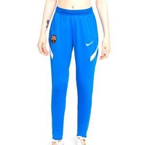 Pantalón Nike Barcelona entrenamiento mujer Strike - Pantalón largo de entrenamiento para mujer Nike del FC Barcelona - azul - frontal