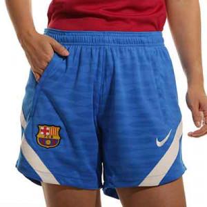 Short Nike Barcelona entrenamiento mujer Dri-Fit Strike - Pantalón corto de entrenamiento para mujer Nike del FC Barcelona - azul - frontal