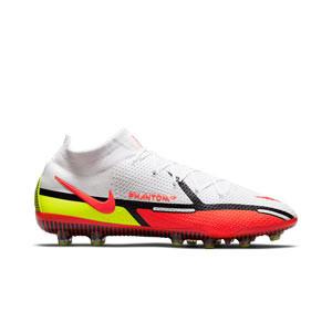 Nike Phantom GT2 Elite DF AG-PRO - Botas de fútbol con tobillera Nike AG-PRO para césped artificial - blancas, rojas