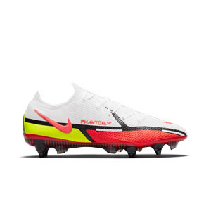 Nike Phantom GT2 Elite SG-PRO AC - Botas de fútbol Nike SG con tacos de alúminio para césped natural blando - blancas, rojas