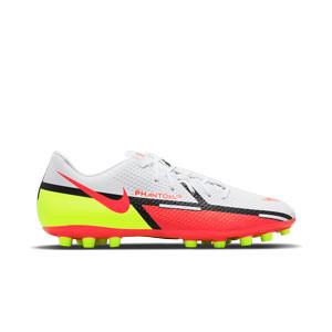 Nike Phantom GT2 Academy AG - Botas de fútbol Nike AG para césped artificial - blancas, rojas