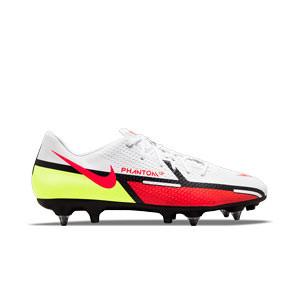 Nike Phantom GT2 Academy SG-PRO AC - Botas de fútbol Nike SG con tacos de alúminio para césped natural blando - blancas, rojas