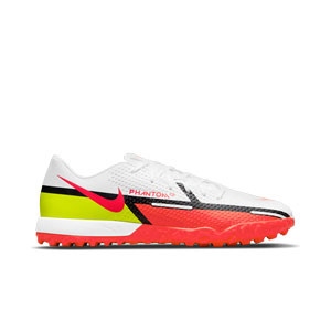 Nike Phantom GT2 Academy TF - Zapatillas de fútbol multitaco Nike suela turf - blancas, rojas