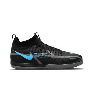 Nike Jr Phantom GT2 Academy DF IC - Zapatillas de fútbol sala infantiles con tobillera Nike suela lisa IC - negras