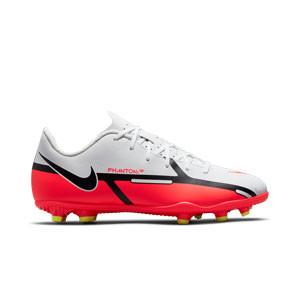 Nike Jr Phantom GT2 Club FG/MG - Botas de fútbol infantiles Nike FG/MG para césped artificial - blancas, rojas