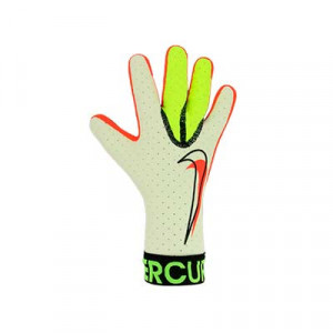 Nike GK Mercurial Touch Elite - Guantes de portero profesionales Nike corte negativo - blancos, amarillos flúor