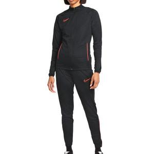 Chándal Nike mujer Dri-Fit Academy 21 - Chándal de fútbol de mujer Nike - negro, rojo