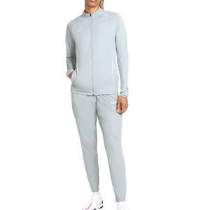 Chándal Nike mujer Dri-Fit Academy 21 - Chándal de entrenamiento de fútbol para mujer Nike - gris - frontall