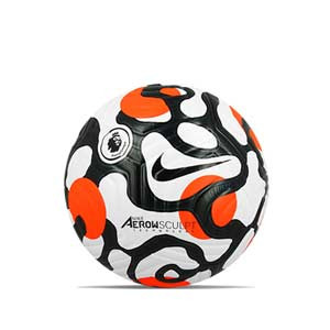 Balón Nike Premier League 21 2022 Flight FIFA talla 5 - Balón de fútbol Nike de la Premier League 2020 2021 talla 5 - blanco y naranja