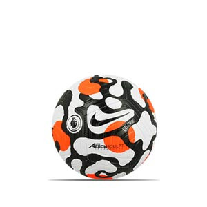 Balón Nike Premier League 21 2022 Strike talla 3 - Balón de fútbol Nike de la Premier League 2020 2021 talla 3 - blanco y naranja