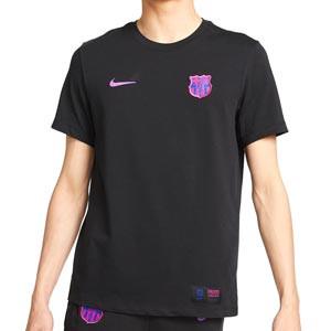 Camiseta Nike Barcelona Travel District Rising - Camiseta de manga corta de algodón Nike del Barcelona - negra