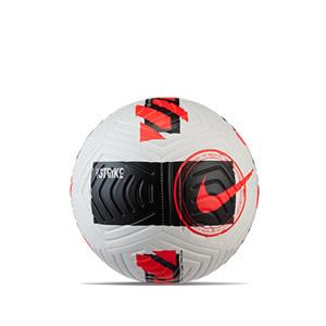 Balón Nike Strike talla 5 - Balón de fútbol Nike talla 5 - blanco, rojo