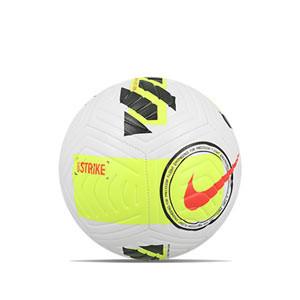 Balón Nike Strike talla 5 - Balón de fútbol Nike talla 5 - blanco, amarillo flúor