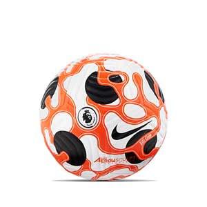Balón Nike Premier League 21 2022 Club talla 5 - Balón de fútbol Nike de la Premier League 2021 2022 talla 5 - blanco, naranja