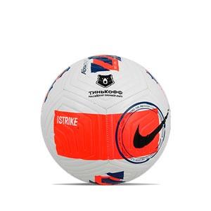 Balón Nike Rusia Premier League 21 2022 Strike talla 5 - Balón de fútbol de la Premier League de Rusia 2021 2022 talla 5 - blanco, naranja