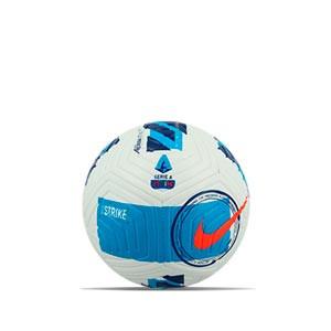 Balón Nike Serie A 2021 2022 Strike talla 3 - Balón de fútbol Nike de la Serie A 2020 2021 talla 3 - blanco, azul celeste