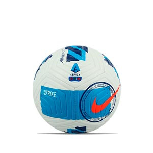 Balón Nike Serie A 2021 2022 Strike talla 4 - Balón de fútbol Nike de la Serie A 2020 2021 talla 4 - blanco, azul celeste