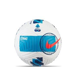 Balón Nike Serie A 2021 2022 Strike talla 5 - Balón de fútbol Nike de la Serie A 2020 2021 talla 5 - blanco, azul celeste