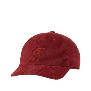 Gorra Nike Sportswear H86 Futura Corduroy - Gorra futbolera Nike de pana - roja - frontal