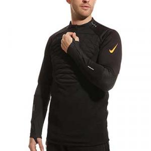 Sudadera Nike Therma-Fit Strike Winter Warrior - Sudadera térmica de entrenamiento de fútbol Nike - negra, naranja