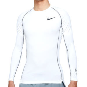 Camiseta Nike Pro Dri-Fit - Camiseta interior compresiva de manga larga Nike - blanca