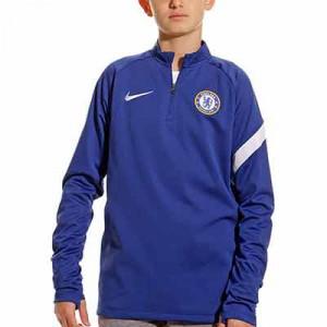 Sudadera Nike Chelsea entrenamiento niño Academy Pro - Sudadera de entrenamiento infantil Nike del Chelsea FC - azul