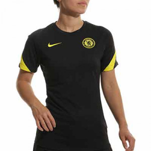 Camiseta Nike Chelsea entrenamiento mujer Strike - Camiseta de entrenamiento de mujer Nike del Chelsea FC - negra