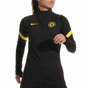 Sudadera Nike Chelsea entrenamiento mujer Strike - Sudadera de entrenamiento de mujer Nike del Chelsea FC - negra