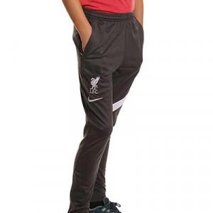 Pantalón Nike Liverpool entrenamiento niño Academy Pro - Pantalón largo infantil entrenamiento Nike del Liverpool - gris oscuro