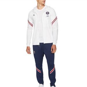 Chándal Nike PSG x Jordan Dri-Fit Strike Hoodie - Chándal con capucha de entrenamiento Nike x Jordan del París Saint-Germain - blanco y azul marino - frontal