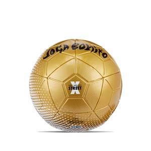 Balón Nike Airlock Street X talla 5 - Balón de fútbol Nike Airlock Street X de la colección Joga Bonito talla 5 - dorado y blanco - frontal