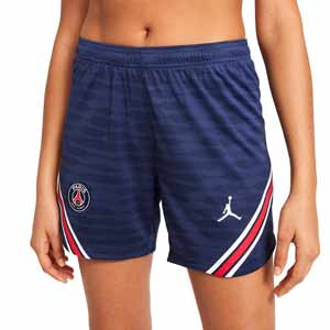 Short Nike PSG X Jordan entreno 2021 2022 mujer Strike - Pantalón corto entrenamiento de mujer Nike x Jordan del París Saint-Germain 2021 2022 - azul marino - frontal