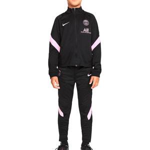 Chándal Nike PSG niño Dri-Fit Strike - Chándal de fútbol infantil Nike del París Saint-Germain - negro