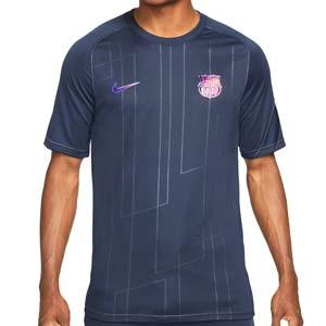 Camiseta Nike Barcelona pre-match - Camiseta calentamiento pre-partido Nike del FC Barcelona - azul marino