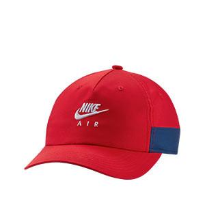 Gorra Nike niño H86 Seasonal - Gorra futbolera infantil Nike - roja - frontal