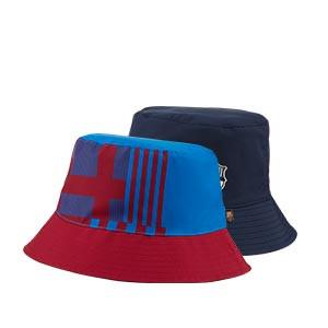 Gorro Nike Barcelona Bucket Reversible - Sombrero tipo pescador Nike del FC Barcelona - azul marino y azulgrana
