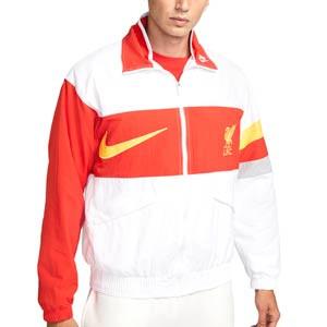 Chaqueta Nike Liverpool I96 Heritage Woven - Chaqueta fina Nike Liverpool FC - blanca